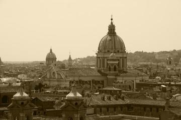 Fototapeta na wymiar Rome,Italy,sepia.