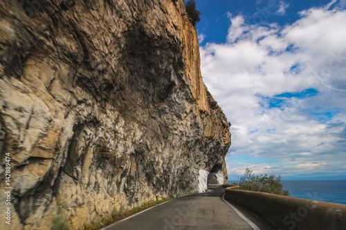 Foto op Plexiglas Trappen road coast rock