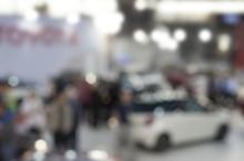 Abstract Blur Motor Show Fair Background