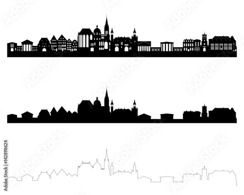 Aachen Skylines Canvas Print