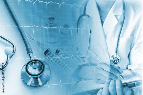 Obraz na płótnie 医療イメージ 心臓の検査