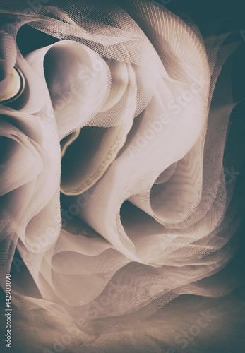 Fotografie, Obraz  Abstract soft chiffon texture background. Waves of soft cloth