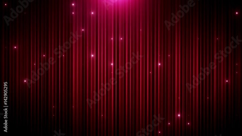 Red glitter led animated VJ background Canvas Print