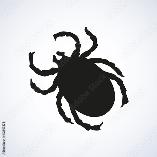 Photo Mite. Vector drawing