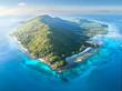 canvas print picture - Insel im Ozean, La Digue - Seychellen