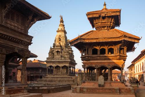 Staande foto Nepal Bhaktapur city before earthquake, Nepal