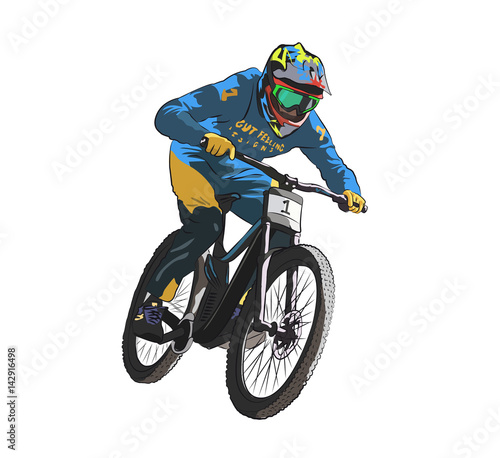 Fotografia downhill bike