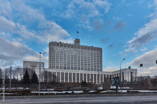 Photo  Moscow - 10 January 2017: The Russian white house