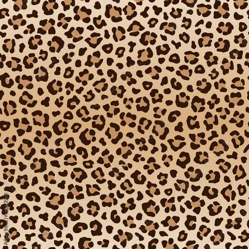 Foto  Seamless animal leopard pattern, vector