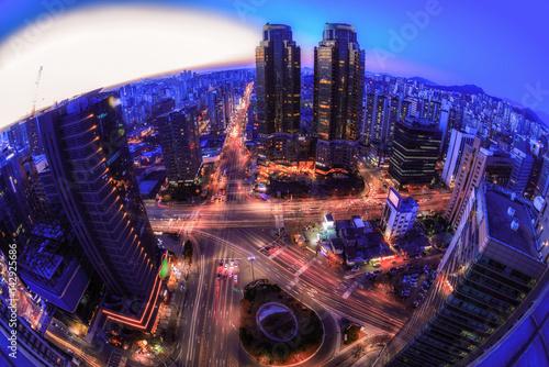 Photo  Korea,Seoul city skyline at night