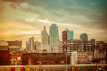 Kansas City MO Skyline Sunset