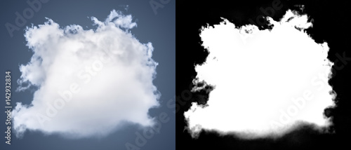Fotografie, Obraz  White cloud cut-out mask