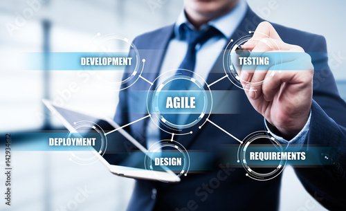 Agile Software Development Business Internet Techology Concept Wallpaper Mural