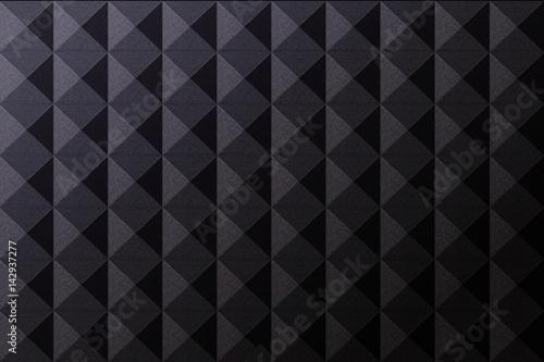 Valokuva  Vector realistic soundproof wall seamless pattern
