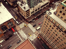 Bird's Eye View Of New York Ci...
