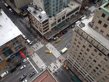 Looking Down On New York Stree...