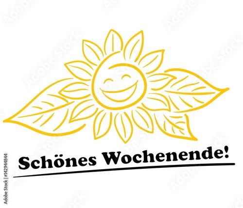 Sonnenblume Schönes Wochenende Buy This Stock Vector