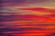 Leinwandbild Motiv Red beautiful clouds at dawn, sunset. Nature background