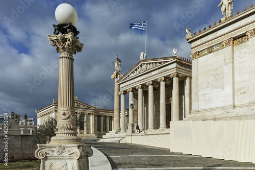 Staande foto Athene Amazing Panorama of Academy of Athens, Attica, Greece