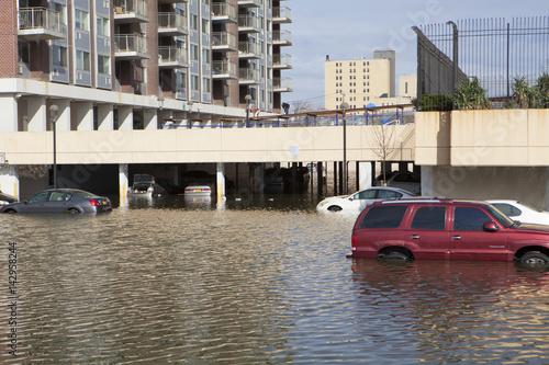 Plakat Jedna z dzielnic Nowego Jorku po huraganie Sandy