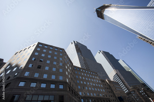 Photo  NEW YORK CITY - August 30: The construction of NYC's World Trade Center towers as seen on August 30, 2012
