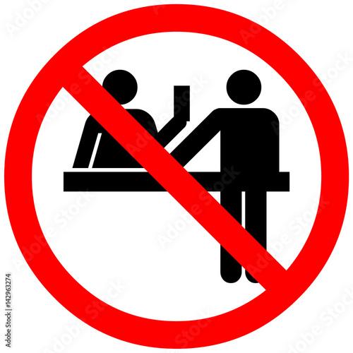 Fotografía  cash payment not allowed