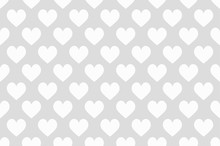 Hearts Seamless Wallpaper White