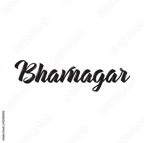 Photo bhavnagar, text design. Vector calligraphy. Typography poster.