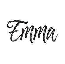 Emma, Text Design. Vector Call...