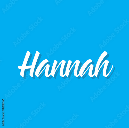 hannah, text design. Vector calligraphy. Typography poster. Wallpaper Mural