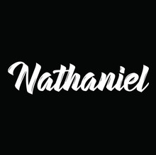 Nathaniel, Text Design. Vector Calligraphy. Typography Poster.