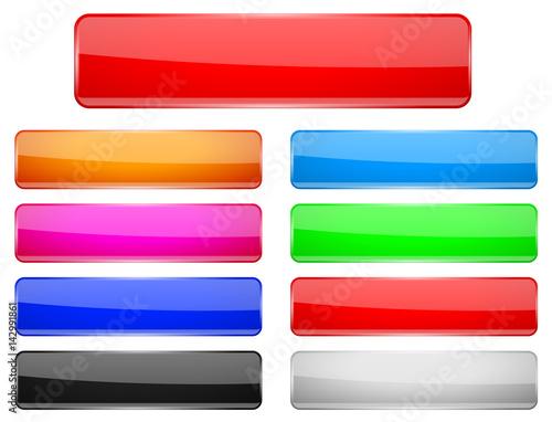 Fotografía  Rectangle glass menu buttons Colored set