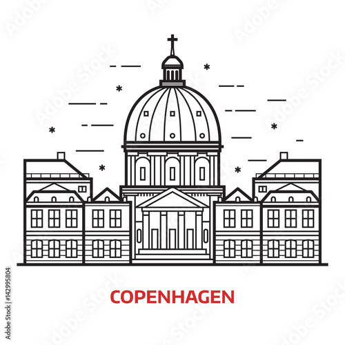 Fotografia Travel Copenhagen landmark icon
