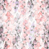 Seamless pattern with floral elements. Watercolor illustration. - 143001662