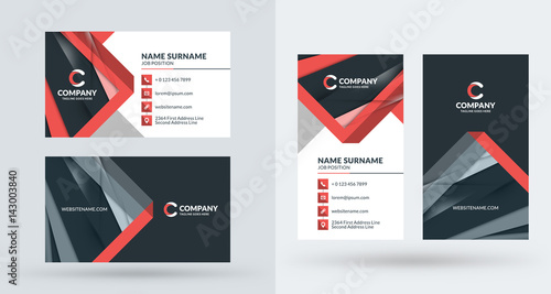 Double sided creative business card template portrait and landscape double sided creative business card template portrait and landscape orientation horizontal and vertical accmission Choice Image