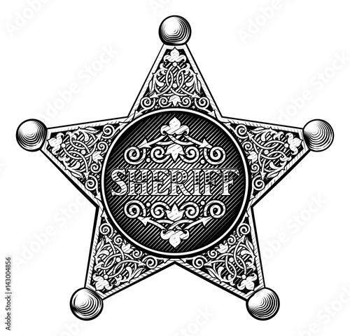 Valokuva  Sheriff Badge