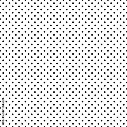 Photo  Seamless polka dot pattern on a white background