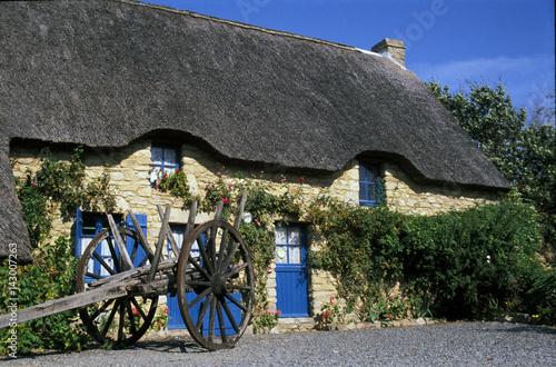 Belle Maison Traditionnelle En Toit De Chaume, Parc De Brière, 44