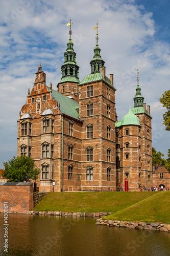 Rosenborg castle, Copenhagen. Sunny summer day view. Canvas Print