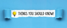 Things You Should Know! / Papier