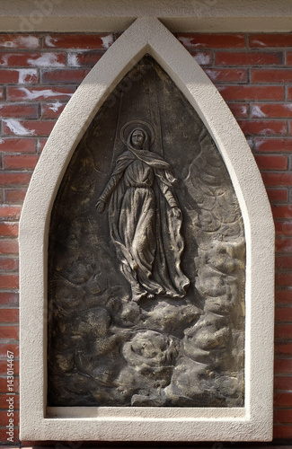 Assumption of the Blessed Virgin Mary into Heaven, the outer wall of the cathedral of St Poster