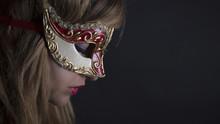 Beautiful Girl  With Venetian Carnival Mask