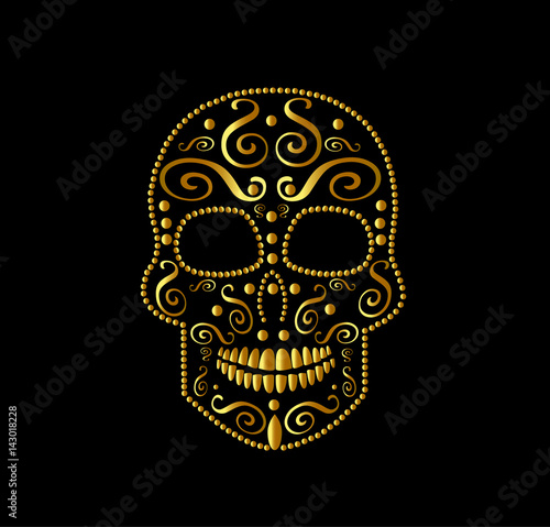 SKull vector icon ornament for fashion desig, background or pattern Fototapete