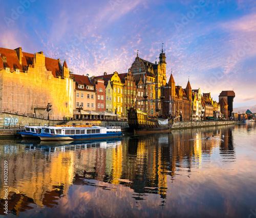 Fototapeta Cityscape of Gdansk in Poland obraz na płótnie