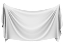 Blank White Hanging Cloth Bann...
