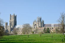 Ely Cathedral With Fields In F...