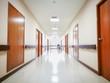 Blur hospital interior for background