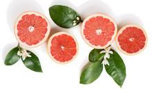 Grapefruit Slices Top View.