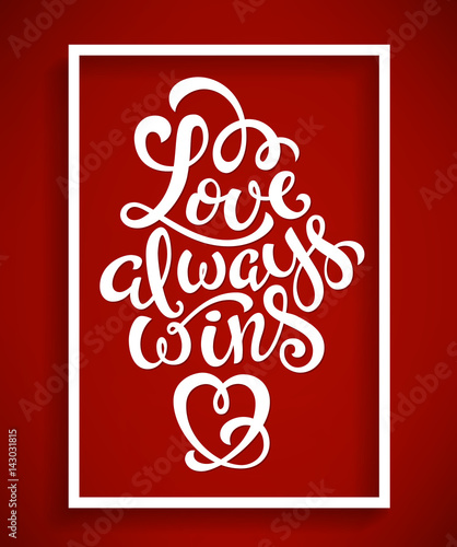 Canvas Print Love always wins