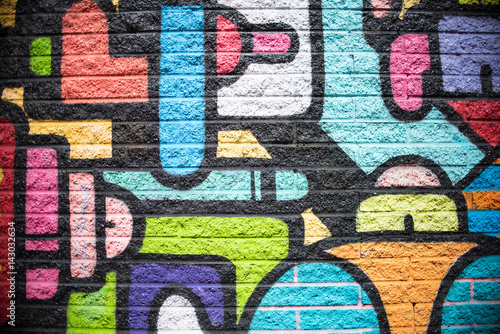 Multi Color Brick Wall Background